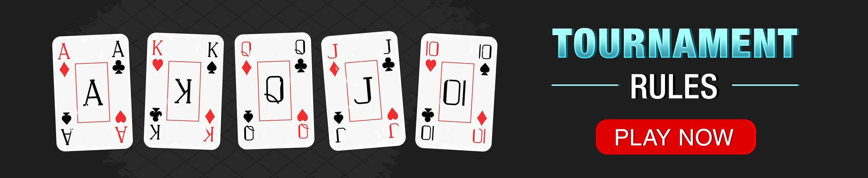 poker tournament rules online