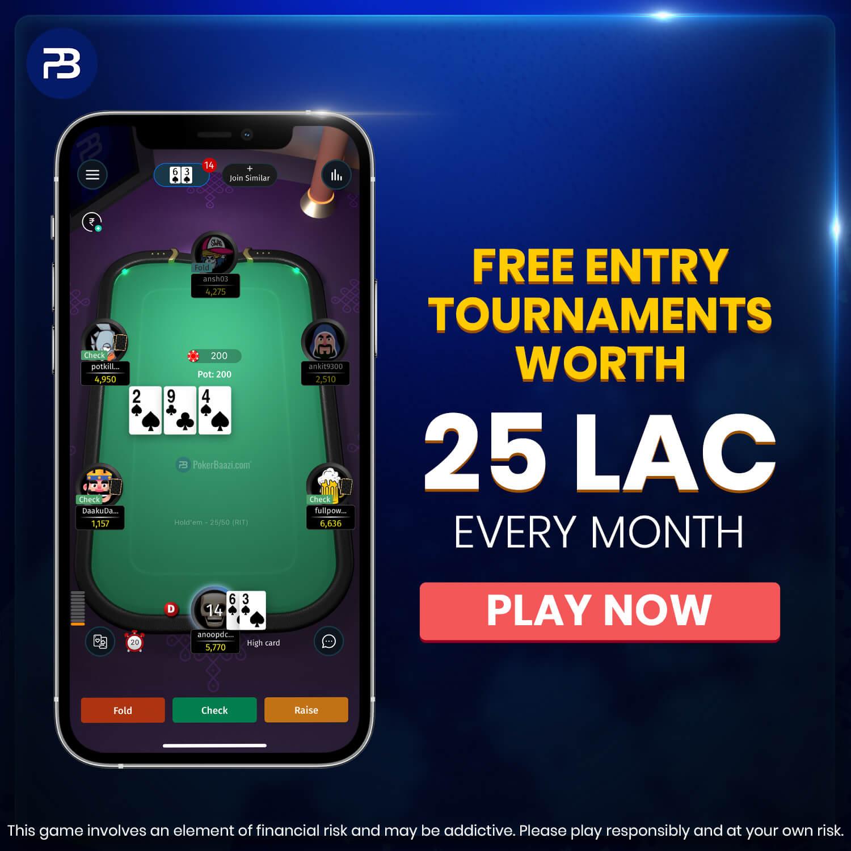 Poker Free entry Tournaments