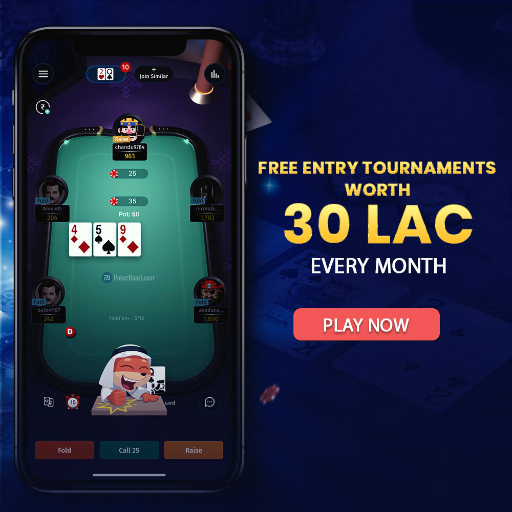 Poker Free entry Tournaments
